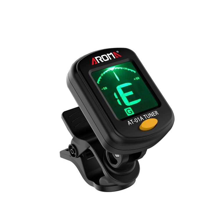 Aroma AT-01A Chromatic clip on tuner for Guitar, Bass, ukulele, violin